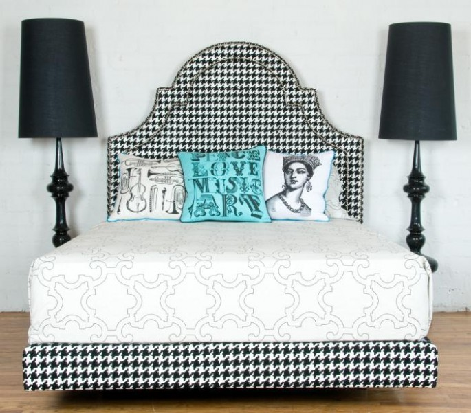 """The Houndstooth Hollywood Bed"""