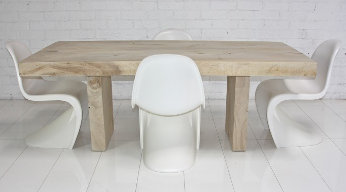 New Products ModShop Style Blog - Bleached wood dining table