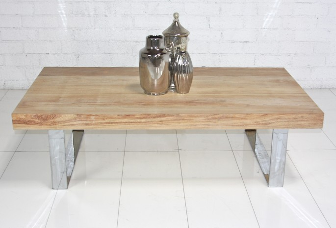 Delicieux ... Touches To Their Swinging Bacheloru0027s Pad, Then This 2u2033 Machiche Coffee  Table Is For You! Made From 2u2033 Thick Solid Machiche Wood And Chrome U Legs.