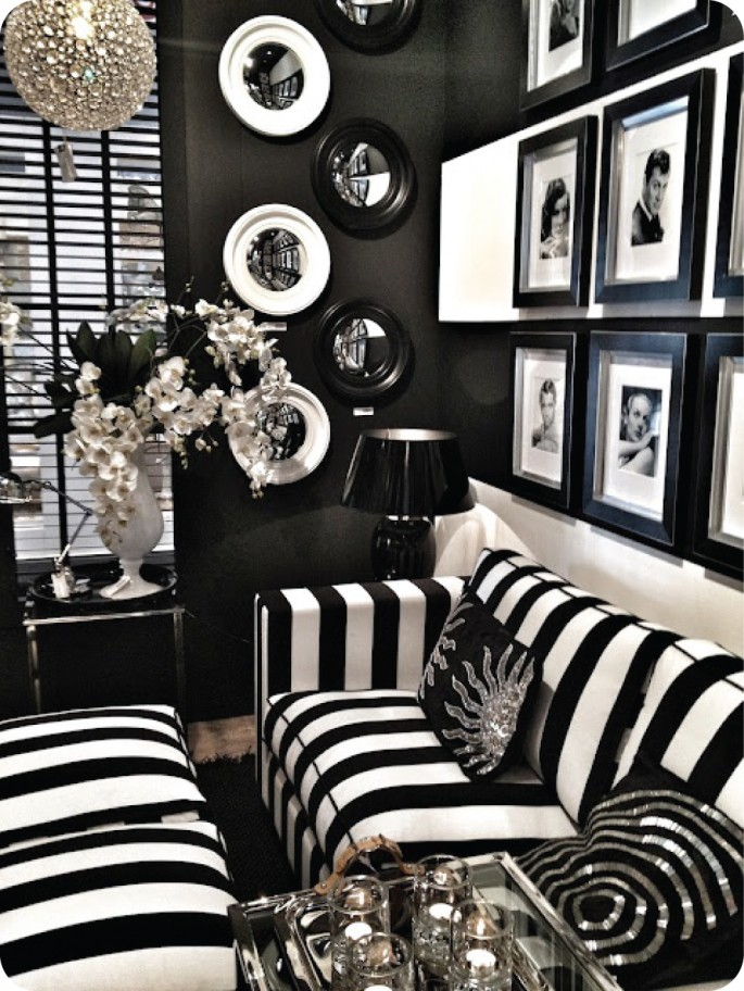 The origins of hollywood regency modshop style blog - Adorable iconic furniture design adapts black and white color ...