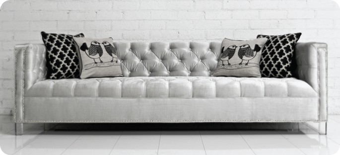 Charming Our Hollywood Sofa Is Always Glam.