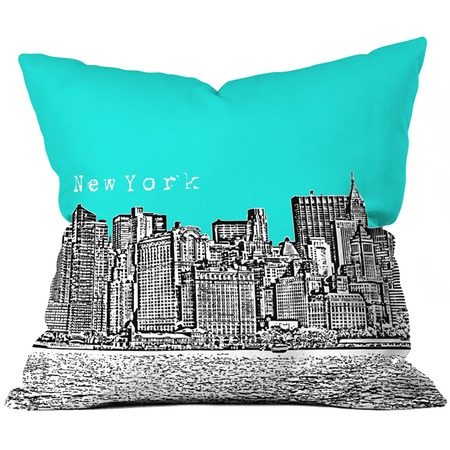 Mixed---Born-in-the-U.S.A.-Bird-Ave-New-York-Throw-Pillow-in-Aqua